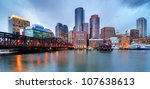 Skyline Of Downtown Boston Fro...