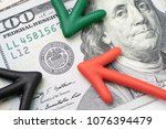 green  red and black arrow...   Shutterstock . vector #1076394479