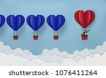 business leadership concept.... | Shutterstock .eps vector #1076411264