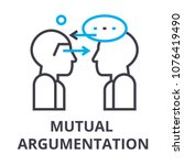 mutual argumentation thin line... | Shutterstock .eps vector #1076419490