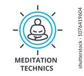 meditation technics thin line... | Shutterstock .eps vector #1076419604