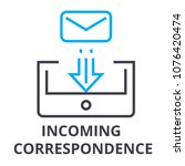 incoming correspondence thin... | Shutterstock .eps vector #1076420474