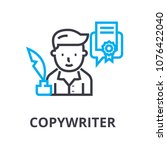 copywriter thin line icon  sign ... | Shutterstock .eps vector #1076422040