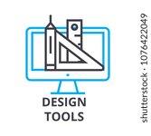 design tools thin line icon ...