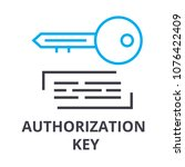 authorization key thin line... | Shutterstock .eps vector #1076422409