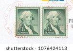 usa   circa 2018 stamp printed... | Shutterstock . vector #1076424113