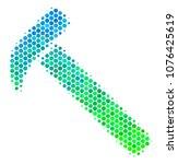 halftone circle hammer... | Shutterstock .eps vector #1076425619