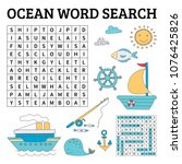 learn english with an ocean... | Shutterstock .eps vector #1076425826