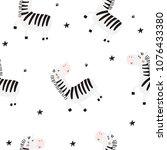 cute little zebra vector print | Shutterstock .eps vector #1076433380