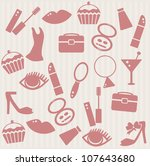 pattern with woman's things | Shutterstock .eps vector #107643680