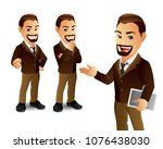 set of strong man characters | Shutterstock .eps vector #1076438030
