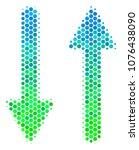 halftone round spot exchange... | Shutterstock .eps vector #1076438090