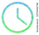 halftone dot clock icon.... | Shutterstock .eps vector #1076446748
