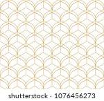 vector ornamental seamless... | Shutterstock .eps vector #1076456273