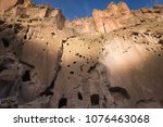 ancient anasazi adobe and cave... | Shutterstock . vector #1076463068