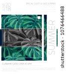 summer party music poster... | Shutterstock .eps vector #1076466488