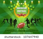 american football vector design | Shutterstock .eps vector #107647940