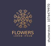 floral logo. leafs icon. floral ... | Shutterstock .eps vector #1076479970