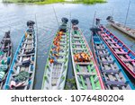 tourist boat on the lake... | Shutterstock . vector #1076480204