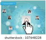 template of a group of business ... | Shutterstock .eps vector #107648228