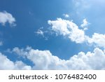 solid clounds forming on blue... | Shutterstock . vector #1076482400