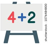 math class isolated color...   Shutterstock .eps vector #1076484800