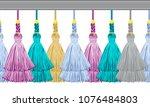 seamless border pattern ... | Shutterstock .eps vector #1076484803