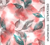 watercolor illustration. floral ... | Shutterstock . vector #1076492060