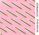 green pencils pattern parallel...   Shutterstock . vector #1076498624