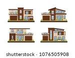 vector flat illustration modern ... | Shutterstock .eps vector #1076505908