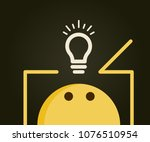 emoticon thinking outside the... | Shutterstock .eps vector #1076510954