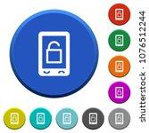 smartphone unlock round color... | Shutterstock .eps vector #1076512244