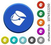 paint bucket round color... | Shutterstock .eps vector #1076512250
