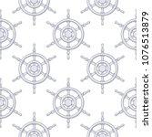steering wheels as seamless... | Shutterstock .eps vector #1076513879