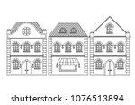 houses. old european buildings. ... | Shutterstock .eps vector #1076513894