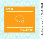 cloud thunderstorm lightning... | Shutterstock .eps vector #1076520398