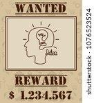 wanted human idea concept.... | Shutterstock .eps vector #1076523524