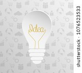 light bulb idea concept   Shutterstock .eps vector #1076523533