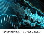 creative glowing forex chart... | Shutterstock . vector #1076525660