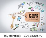 gdpr general data protection... | Shutterstock . vector #1076530640