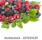 Sweet Berries With Flowering...