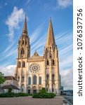 View West Facade Chartres Cathedral - Fine Art prints