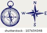 compass sketch | Shutterstock .eps vector #107654348