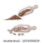 scoop for cocoa powder and... | Shutterstock .eps vector #1076550029