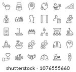 thin line icon set   business... | Shutterstock .eps vector #1076555660