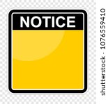 notice  sign board   Shutterstock .eps vector #1076559410