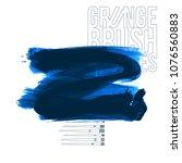 blue brush stroke and texture.... | Shutterstock .eps vector #1076560883