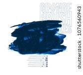 blue brush stroke and texture....   Shutterstock .eps vector #1076560943