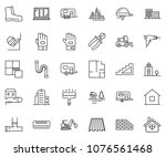 thin line icon set   office... | Shutterstock .eps vector #1076561468