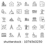 thin line icon set   bank... | Shutterstock .eps vector #1076563250